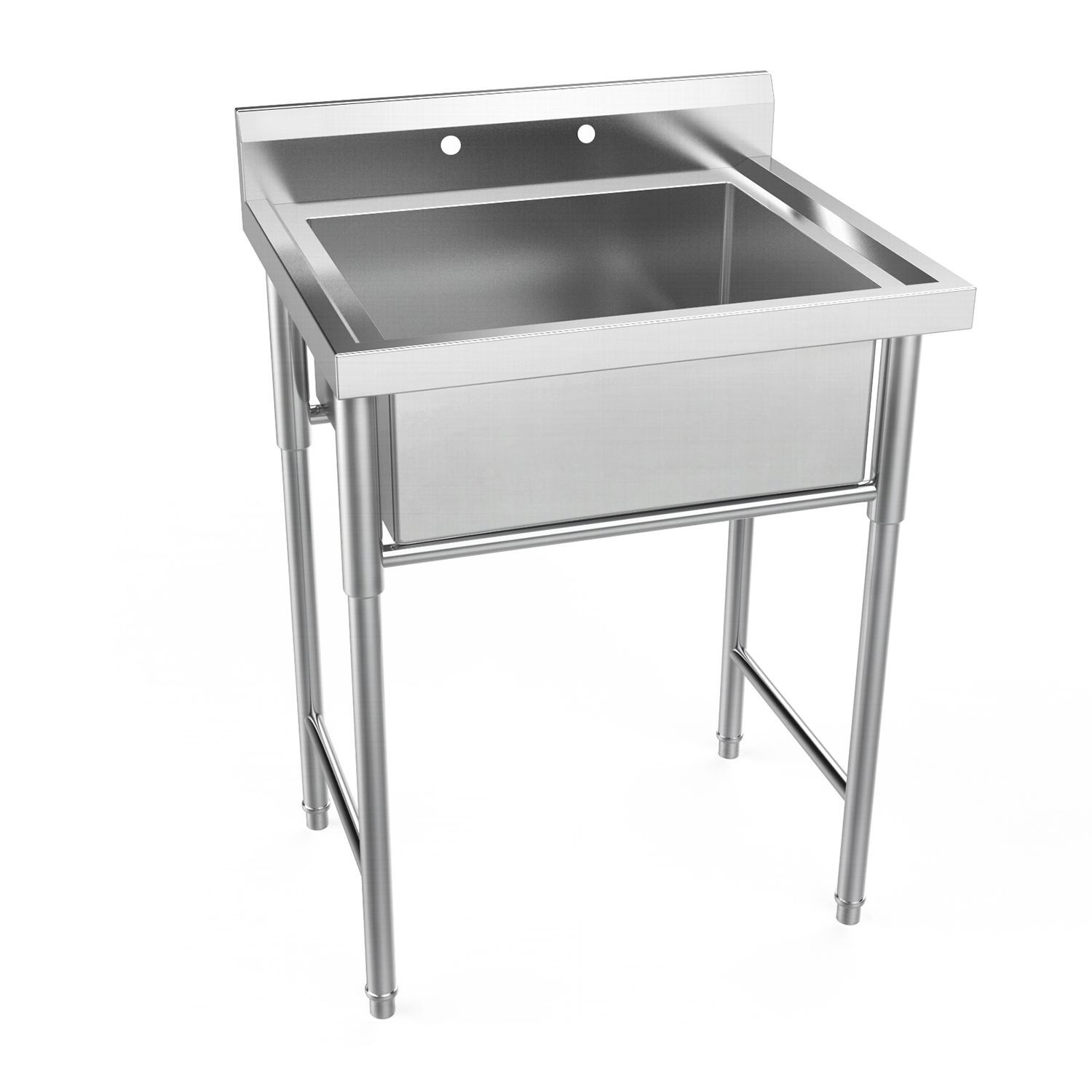 Ubesgoo 30 Wide Commercial Grade Stainless Steel Utility Sink
