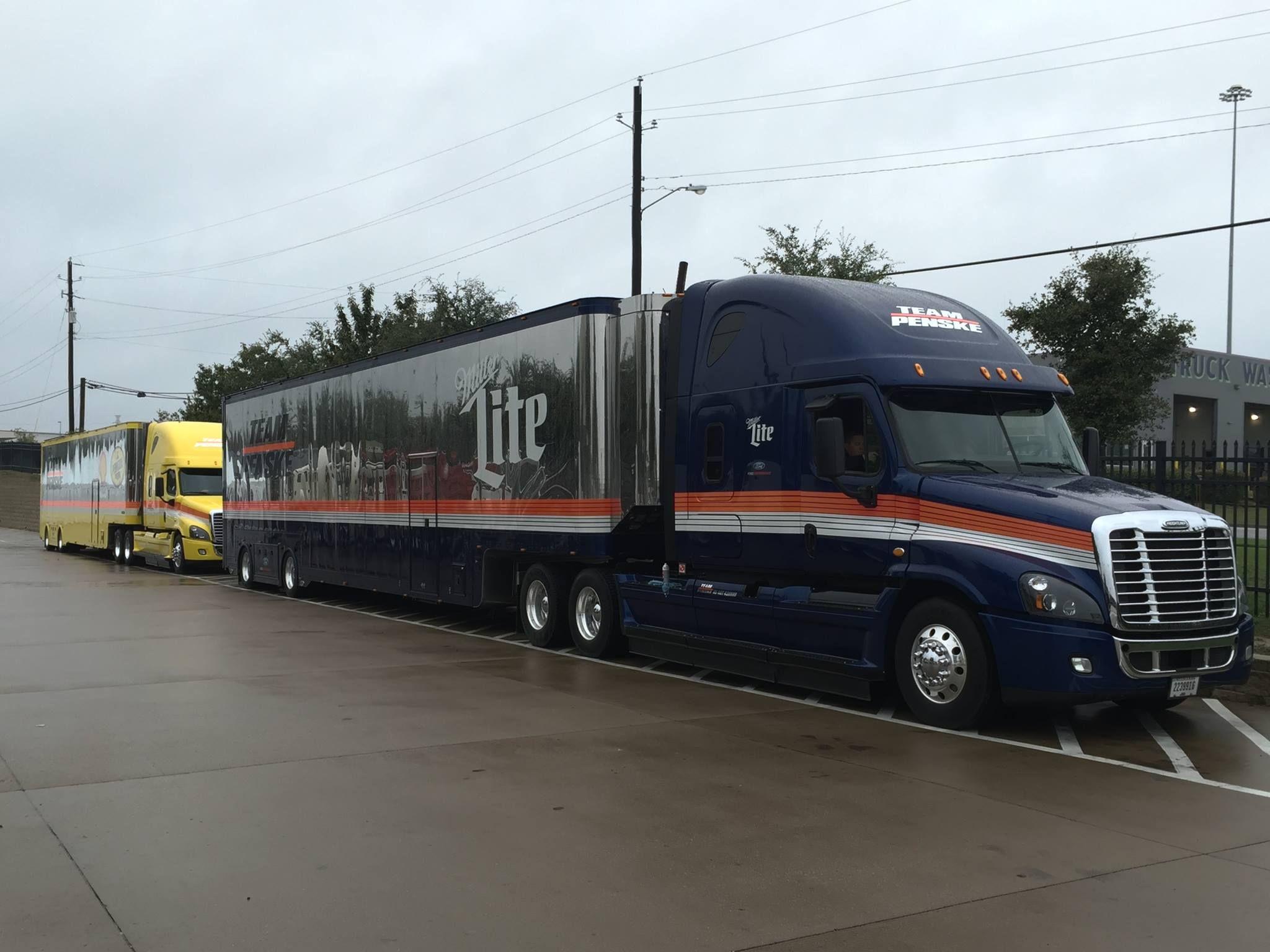 Freightliner Cascadia Miller Lite Penske Racing Nascar