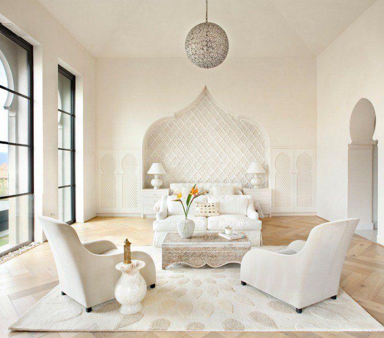Décoration salon marocain moderne \u2013apporter le climat oriental à l