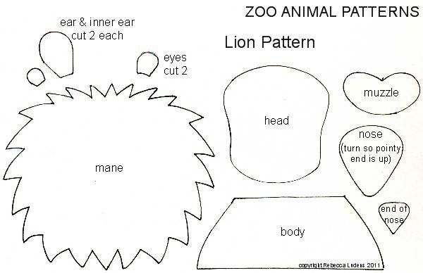 Lion Paper Piecing Pattern