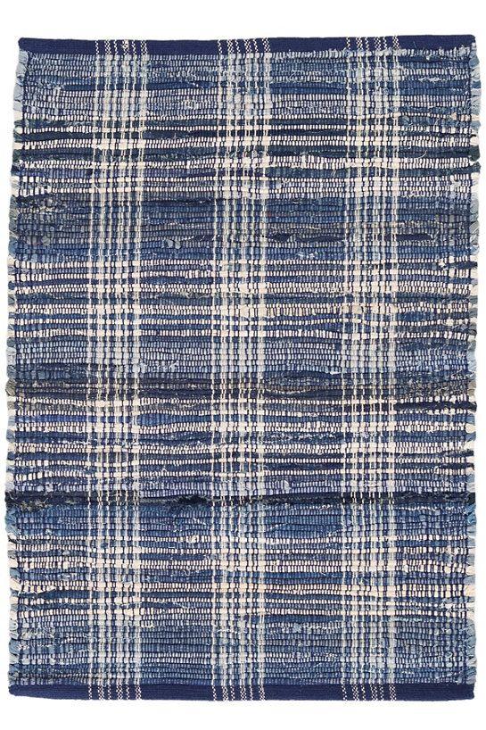 Denim Plaid Woven Cotton Rug Dash Albert Dash And Albert Rugs Plaid Rug Plaid Area Rug