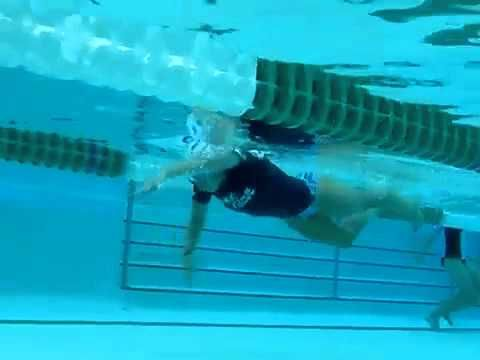 2 Beat Kick and Effective Propulsion Demo/Analysis - YouTube.   Really can see the way that she uses her body to roll through the water.