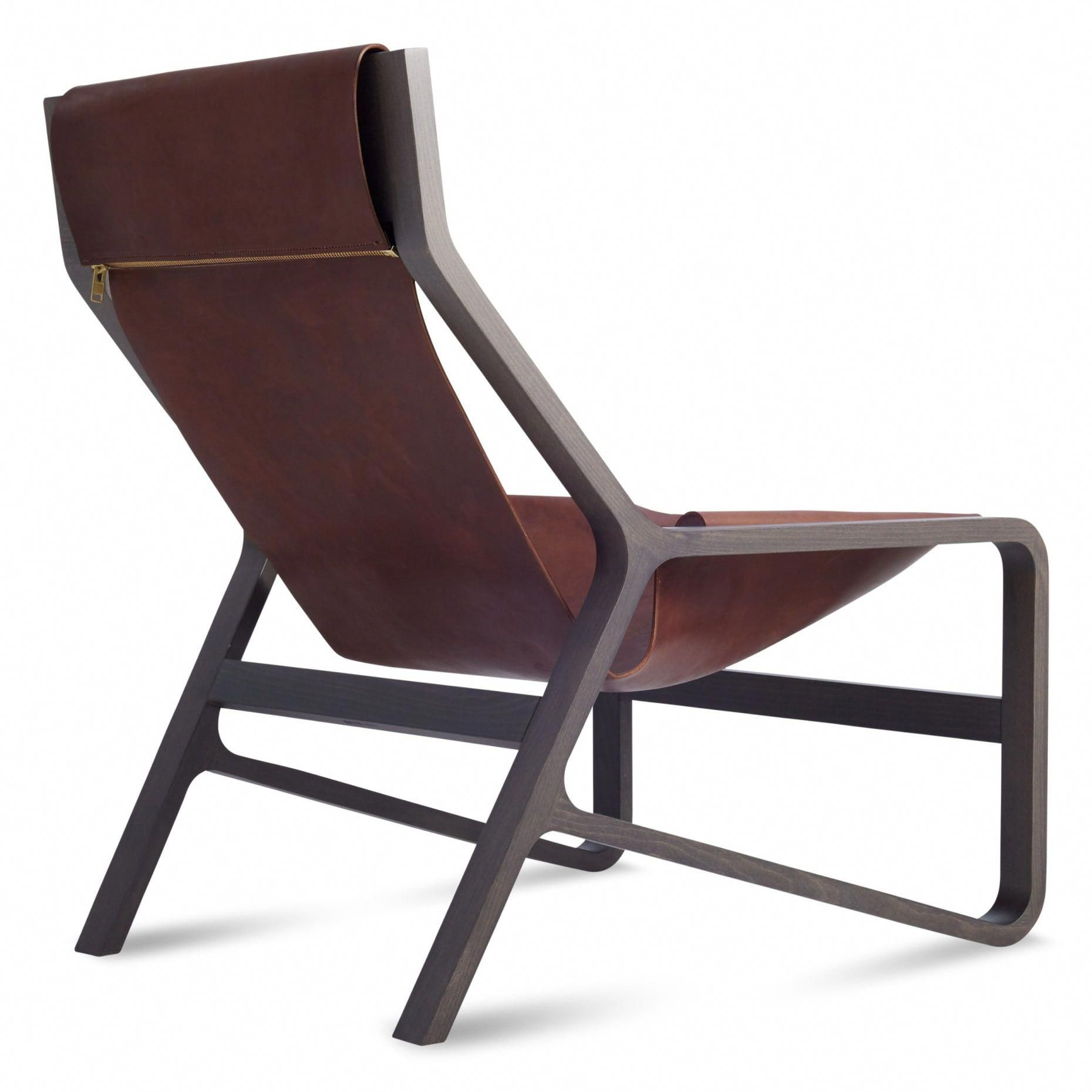 Toro Sling Lounge Chair Leather Sling Chair Blu Dot 1299 Chairs Woven Dining Chairs Modern Lounge Chairs Lounge Chair Outdoor