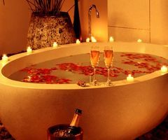 A Romantic Bath Together To Ease Your Nerves