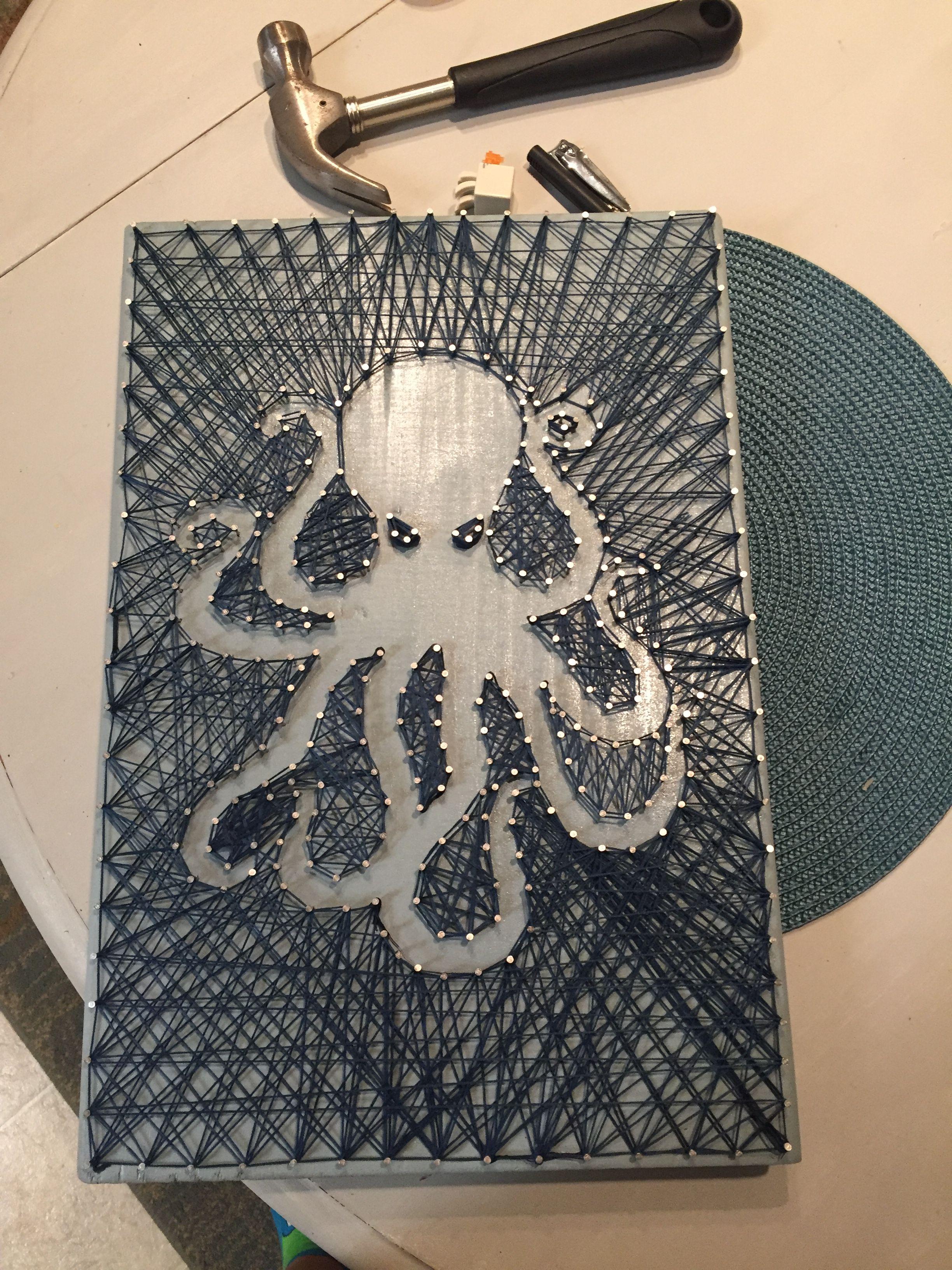 Octopus String Art Octopus String Art