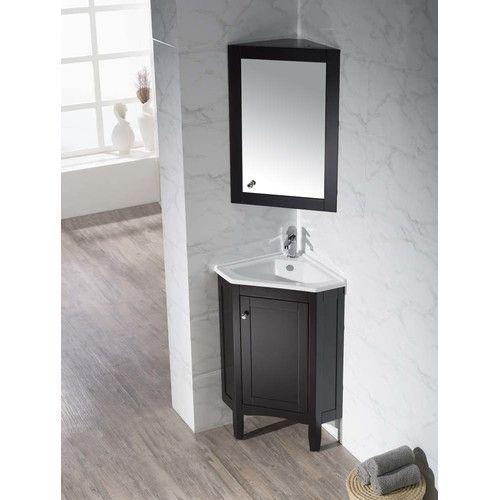 """Found It At Wayfair  25"""" Single Corner Bathroom Vanity Set With Amazing Wayfair Bathroom Sinks Review"""