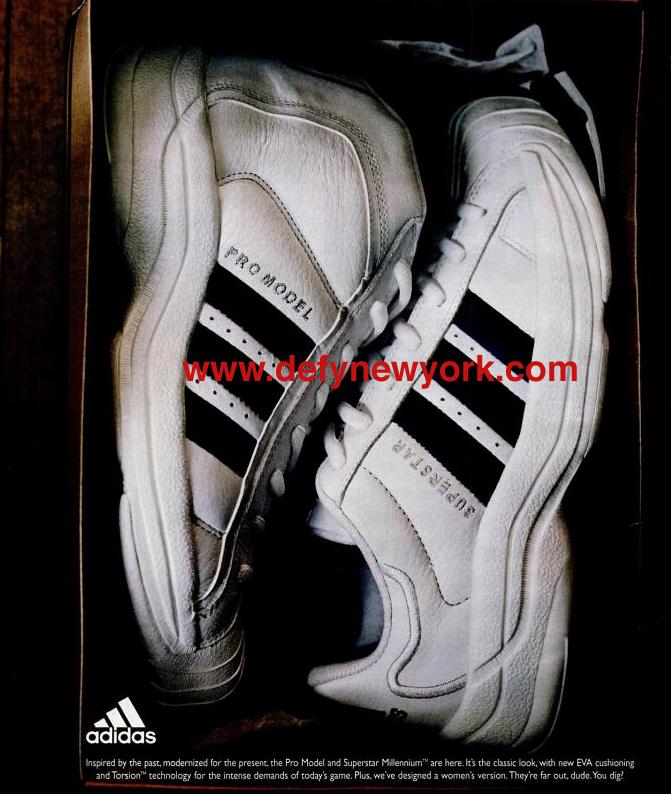 pretty nice e0d66 8934e Adidas Pro Model And Super Star Millenium 1998