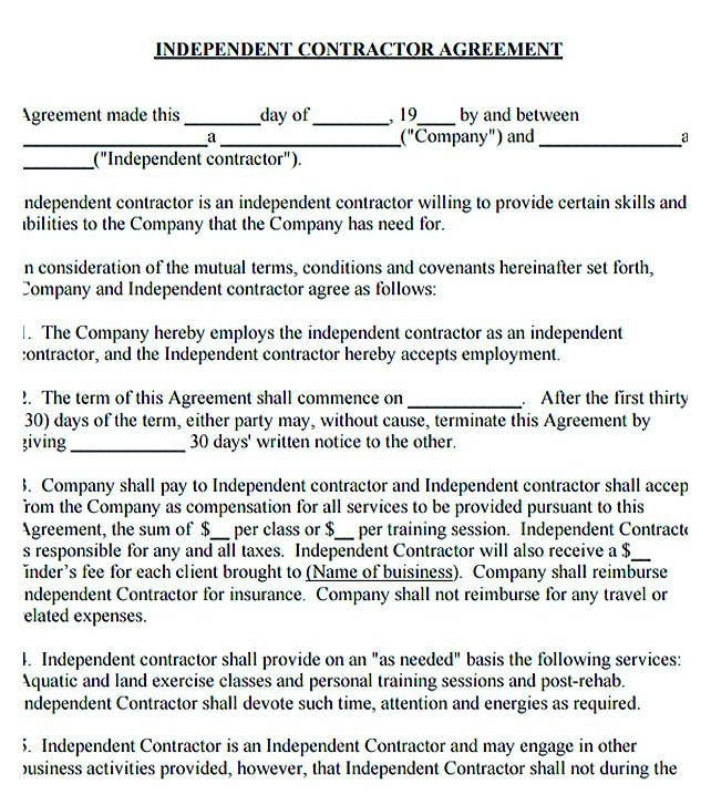 Independent Contractor Agreement   Subcontractor Agreement