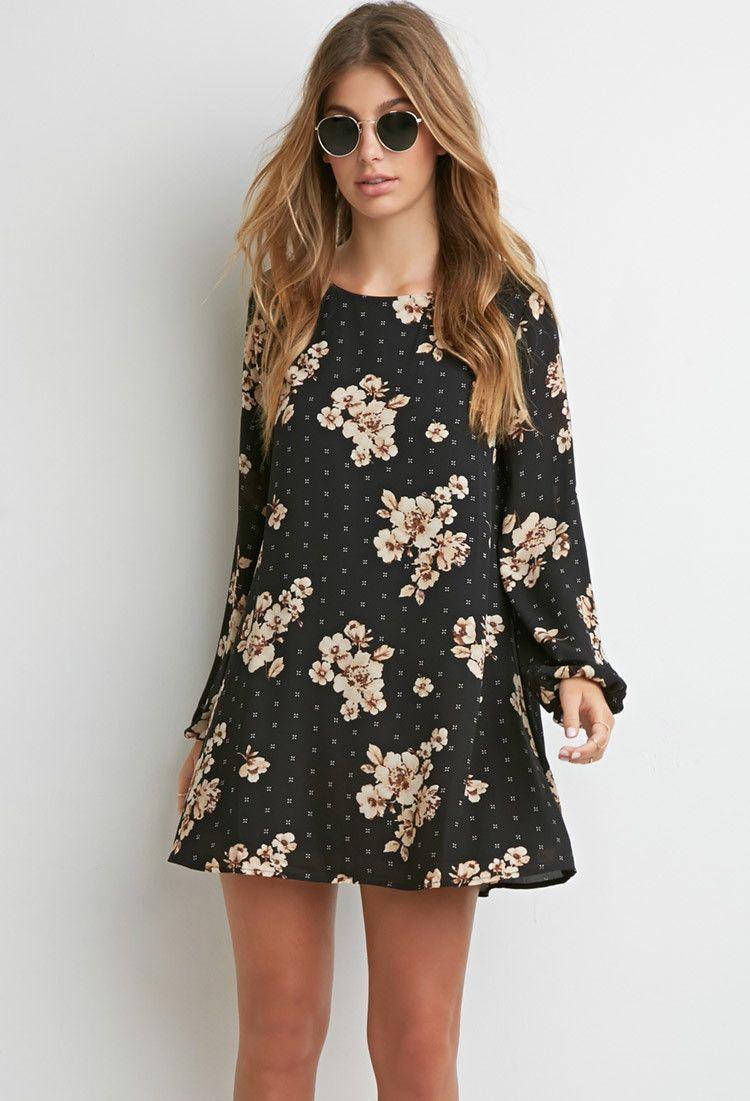 9ebd1aa76f7e Floral Chiffon Shift Dress | Forever 21 - 2000141954 | wish list