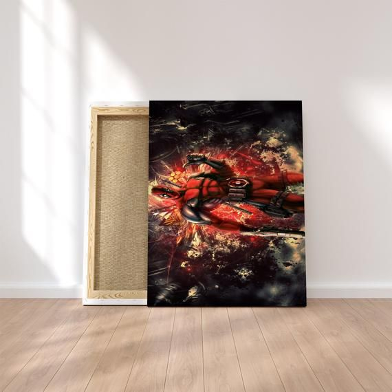 Marvel Heroes Deadpool comic book movie Framed Canvas Print Wall Art pp61