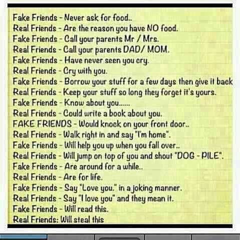 Real Friends Vs Fake Friends Real Friends Friendship Quotes Funny Friends Quotes