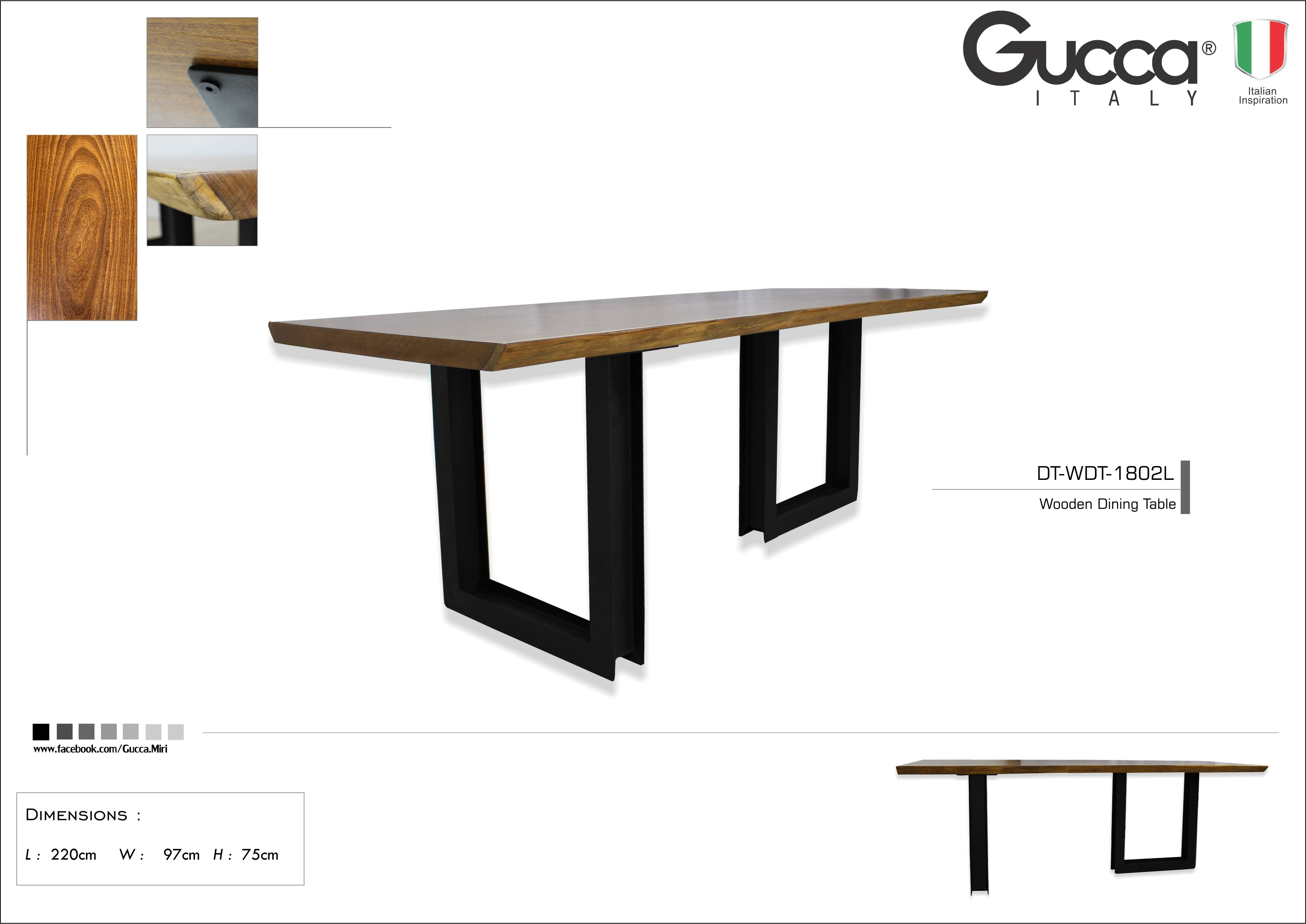 Wooden Dining Table Gucca Italy Miri G Brothers Furniture Sdn