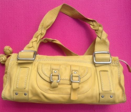 """#Yellow #Leather #Fossil Lots Of Room #Genuine #Leather """"What #Vintage Are You?"""""""