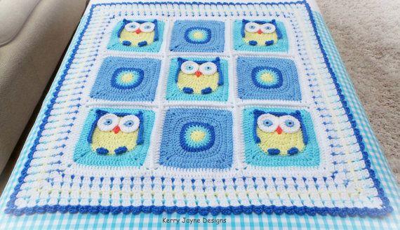 Crochet Baby Blanket Pattern Kerrys Owl Blanket Crochet Owl