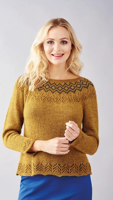 No Sew Fair Isle Sweater Free Knitting Patterns British