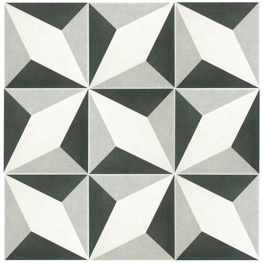 Merola Tile Twenties Diamond 7 34 in x 7 34 in Ceramic Floor and