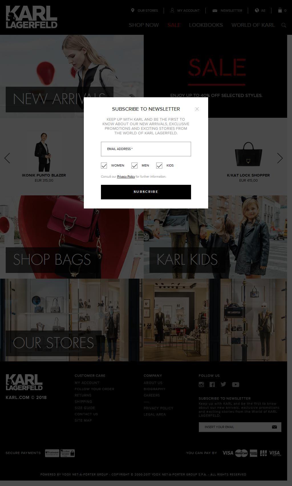 Karl Lagerfeld Shop The Dubai Mall, 3, Mohammed Bin Rashid