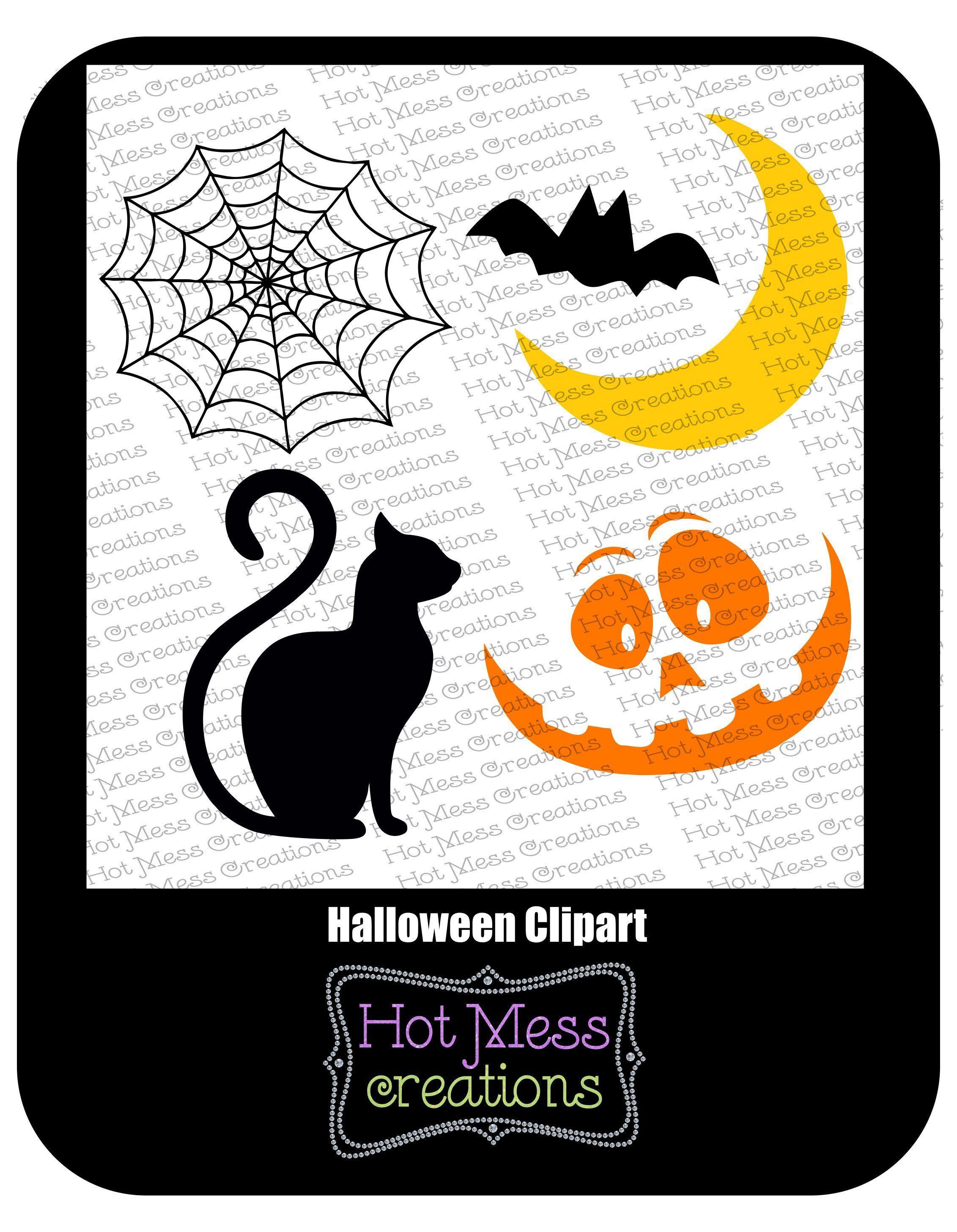Halloween SVG DXF PNG Halloween Clipart Halloween Cat