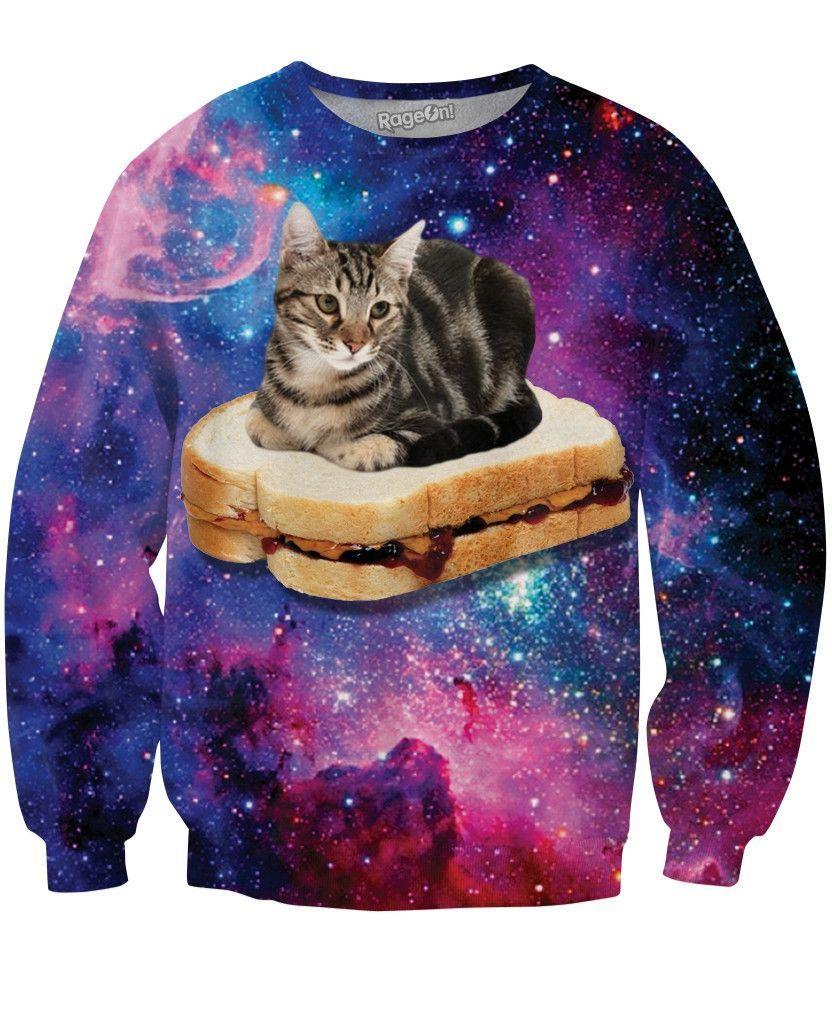 PBJ Space Kitty Crewneck Sweatshirt  d3d5fbbe307a