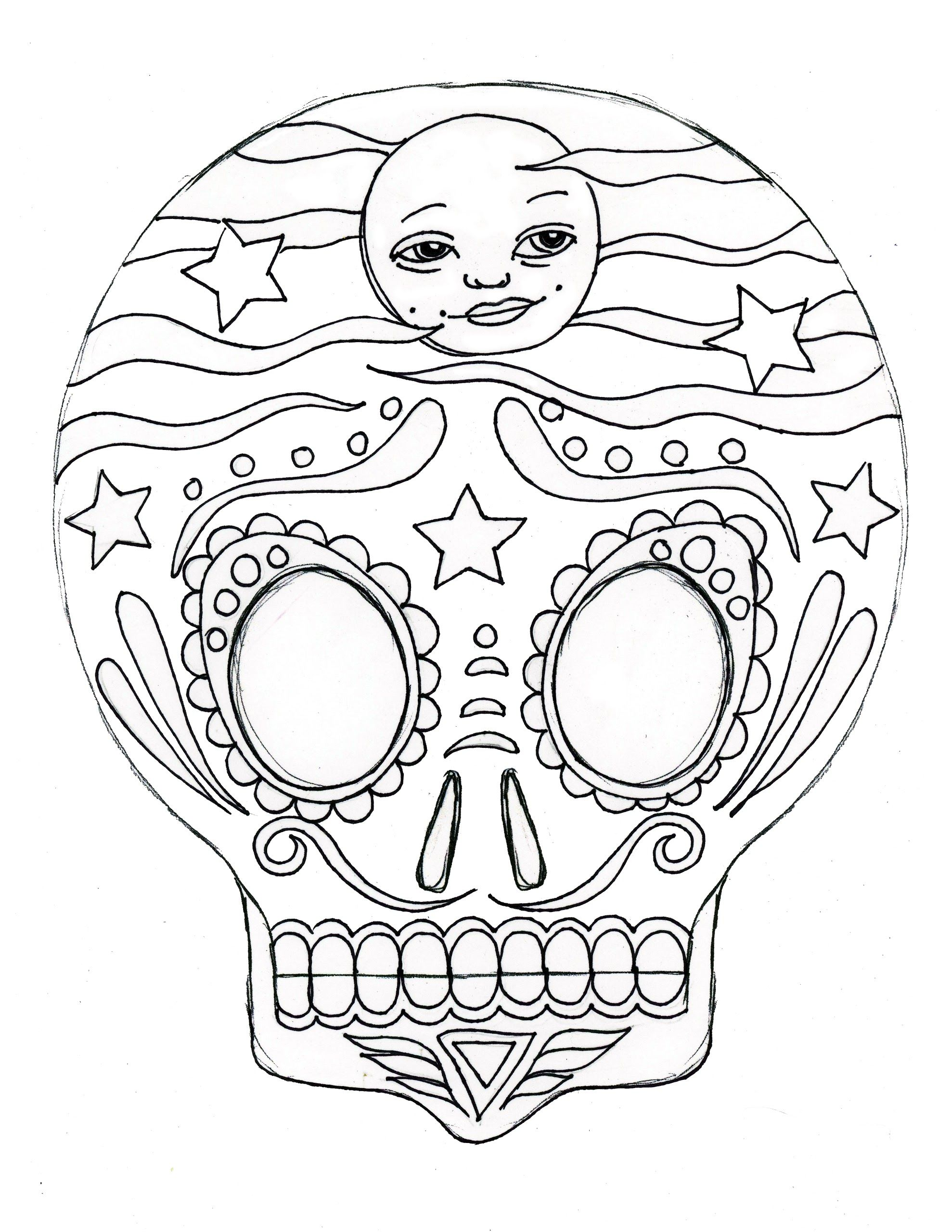 Pin By Lorena Rasgado On Dia De Los Muertos Coloring Pages