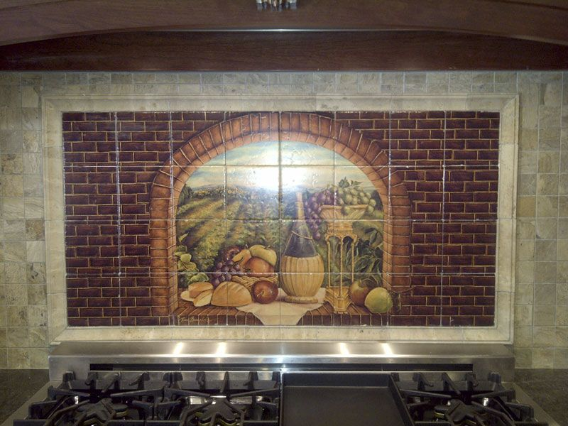 Decorative Tiles For Kitchen Backsplash Decorative Tile Backsplash  Kitchen Tile Ideas  Tuscan Wine Ii