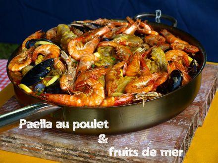 paella espagnole poulet fruits de mer 440 christelle vogel 440 330 pixels. Black Bedroom Furniture Sets. Home Design Ideas