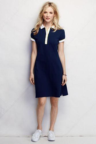 d27ace9741438 Women's Short Sleeve Knit Colourblock Piqu  Polo Dress   Polo in ...