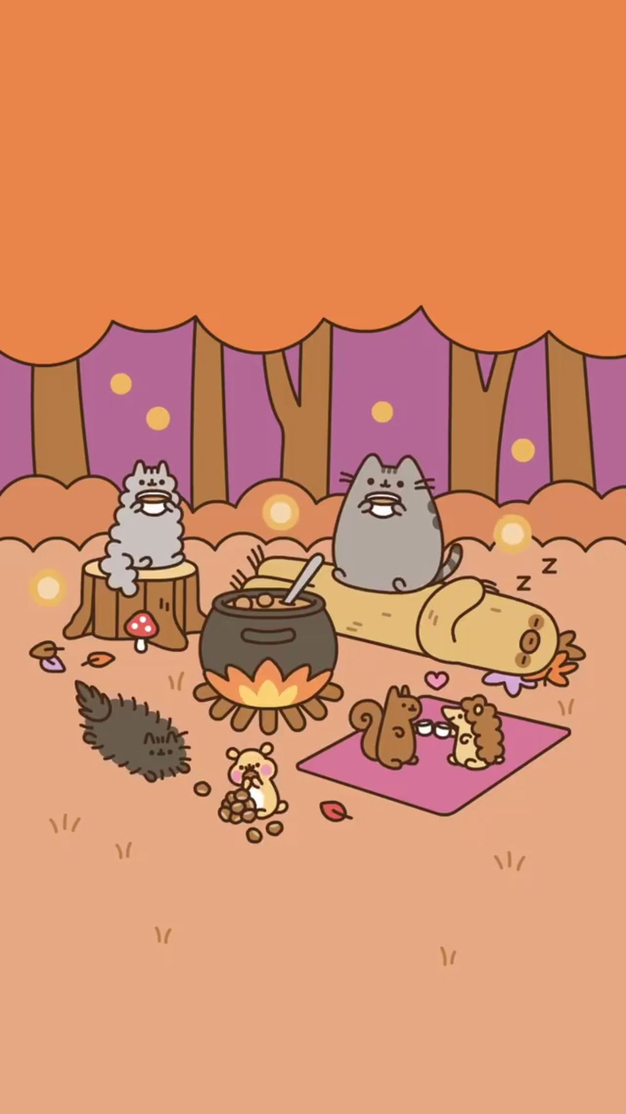 Pusheen Camping Wallpaper Pusheen Cute Pusheen Cat Cat Wallpaper