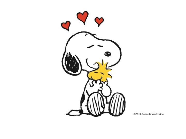 Snoopy Hugging Woodstock... This one with more of Woodstock\'s body ...