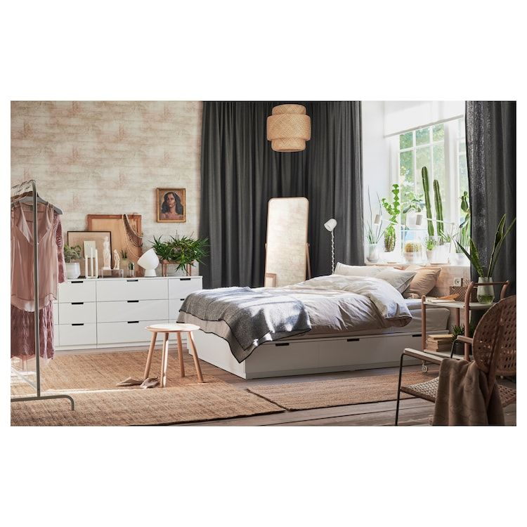 NORDLI Bettgestell mit Schubladen weiß IKEA