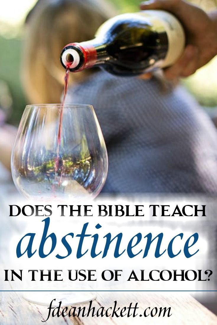 Does Scripture Teach Abstinence In the Use of Alcohol? With each year the debate grows as to whether the Bible teaches total abstinence in the use of alcohol or whether Christians can drink moderately.
