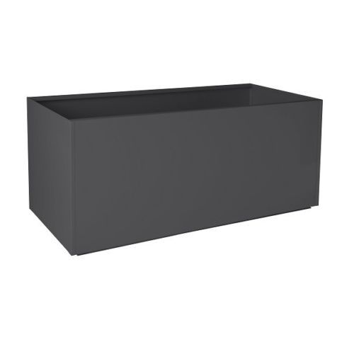 White Red Black Gray Rectangular Trough Metal Planter Box Extra Large Aluminum 329 16x48