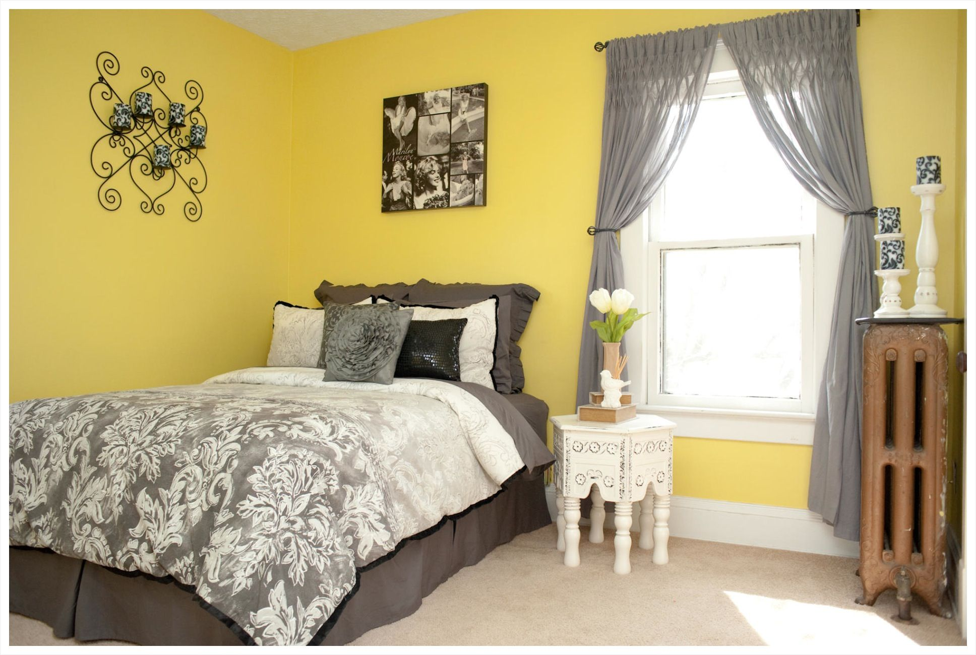 Apartments Surprising Bedroom Small Guest Ideas Grey Yellow ...