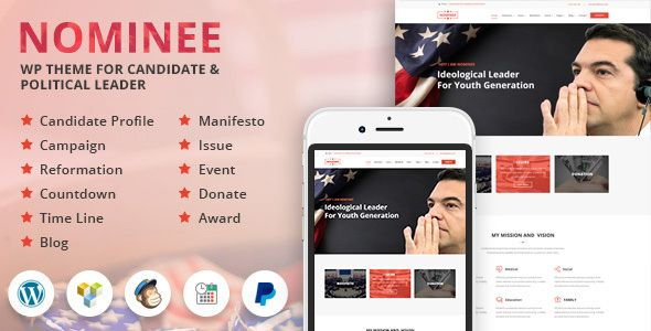 Nominee - Theme for Candidate Political Leader (Political) -   - political brochure