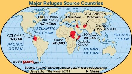 Refugees As A Part Of World Migration Patterns Ap Human