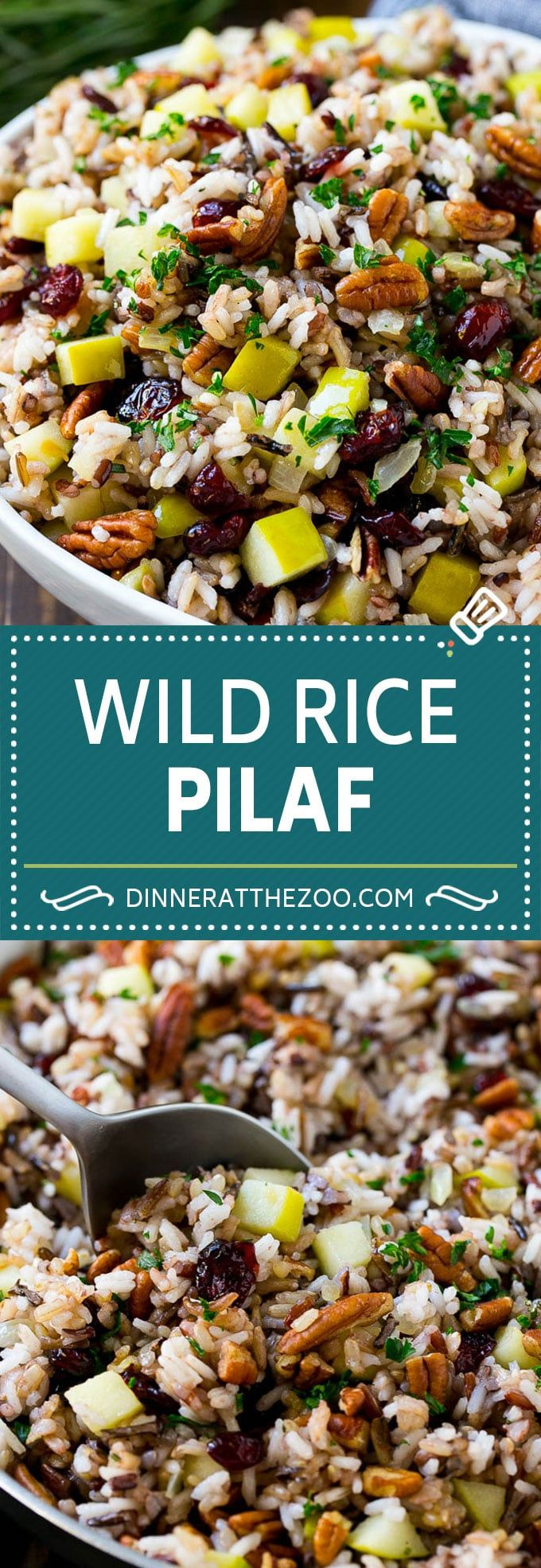 Wild Rice Pilaf Recipe | Thanksgiving Side Dish | Rice Pilaf #rice #apple #cranberry #fall #glutenfree #thanksgiving #dinneratthezoo #chickensidedishes