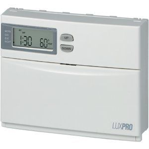 Programmable Heat Pump Thermostat Luxpro By Lux 55 98 The Lux Products Psph521l Is A 5 And 2 Programming 1 Or Home Thermostat Heating And Cooling Heat Pump