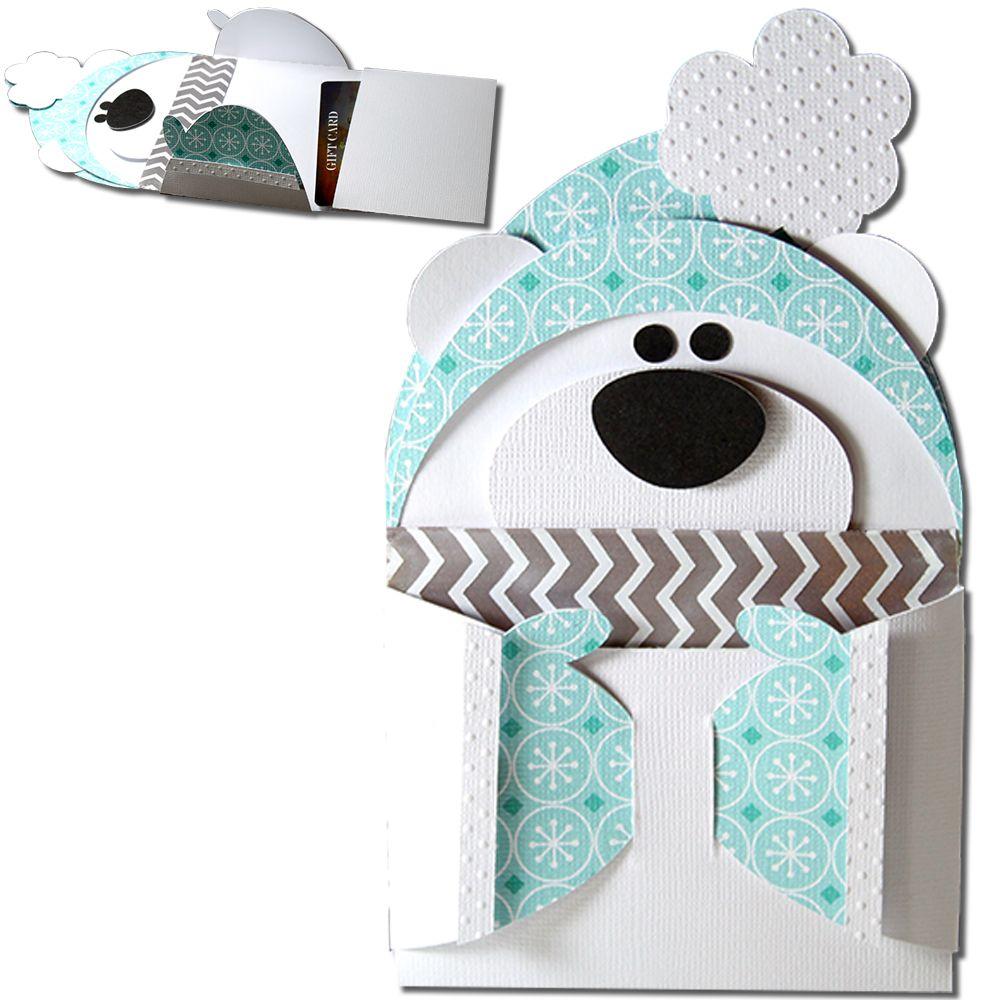 Diy Christmas Gift Card Holder: Polar Bear Hug Gift Card Holder-JMRush Approximate Card