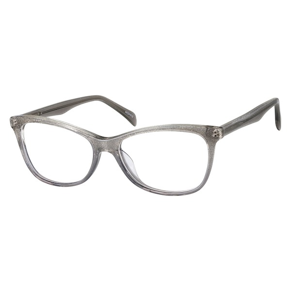 f5ff63053 Zenni Womens Cat-Eye Prescription Eyeglasses Gray Plastic 4434412 in ...