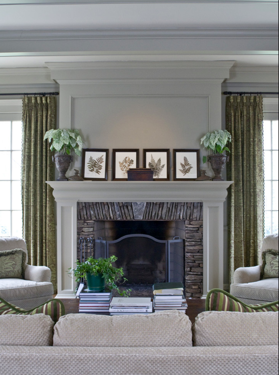 Houzz Fireplace Surround Traditional Family Rooms Home