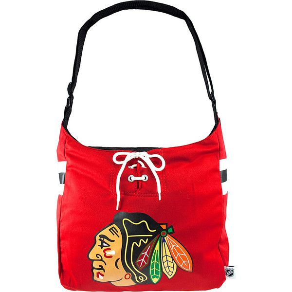 34 Cad Liked On Polyvore Featuring Bags Handbags Shoulder Fabric Red Purse Bag Chicago Blackhawks Jersey
