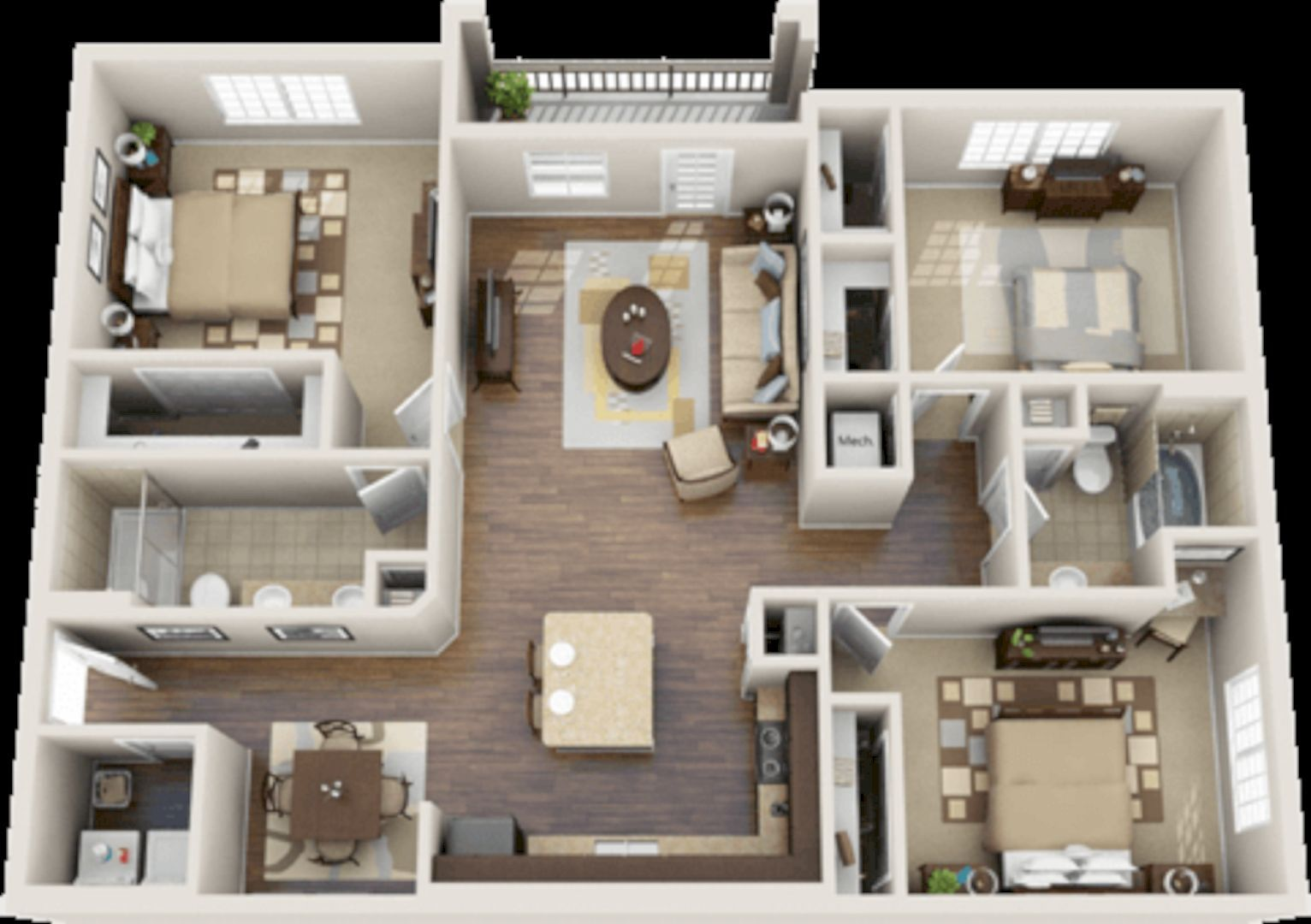 House Plan Bedroom Condos For Html on