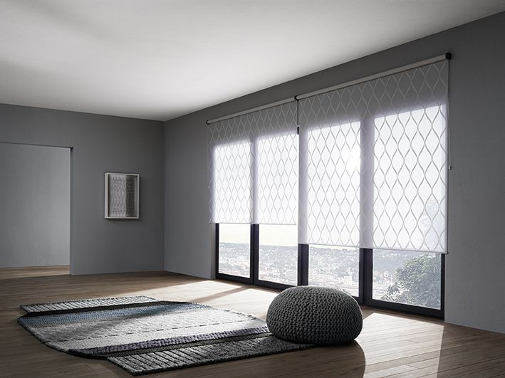 Sheer Roller Shade Manual Pull Chain Roller Blind With Integrated