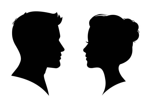 1 117 600 Women Illustrations Royalty Free Vector Graphics Clip Art Istock Man And Woman Silhouette Silhouette Face Silhouette