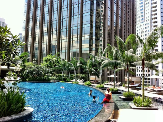 Pool at grand hyatt kuala lumpur velvet escape favourite for Garden pool dubai