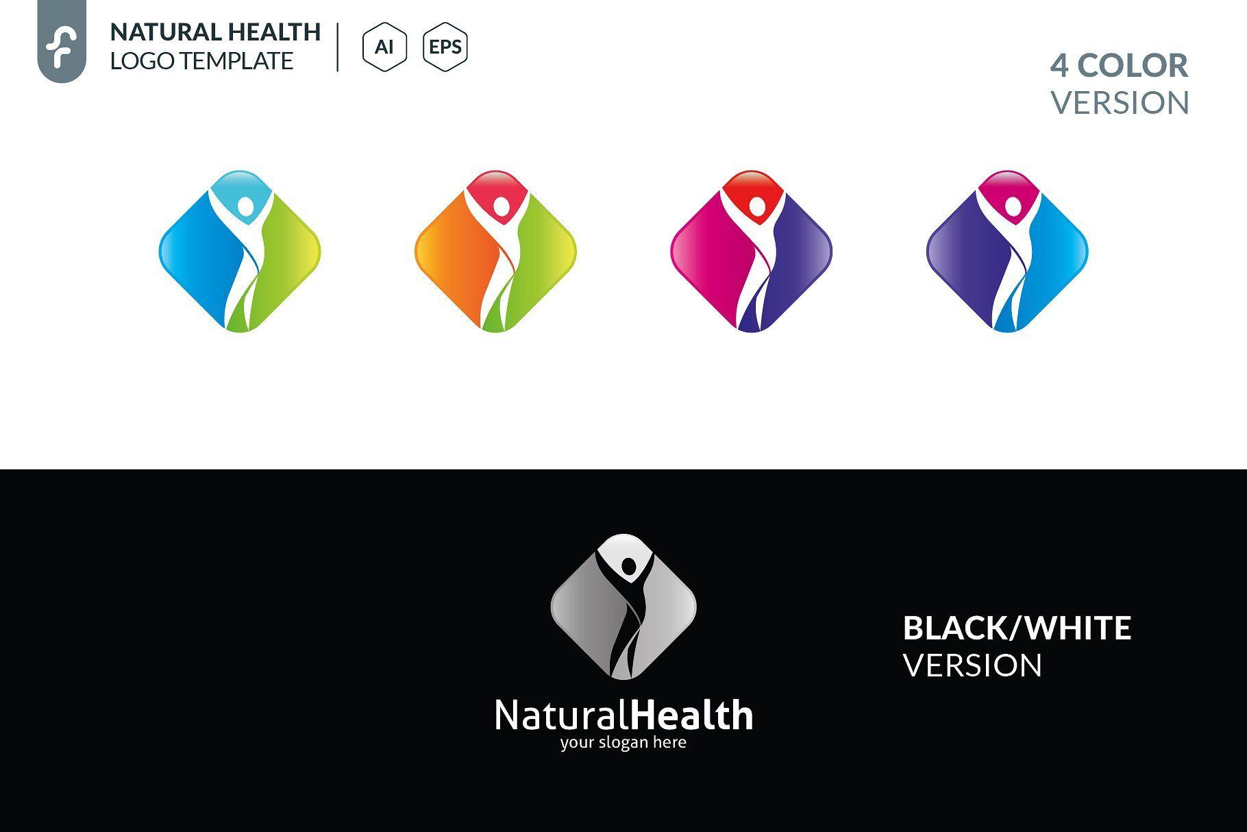 Natural Health Logo Healthnaturaltemplateslogo Presentation