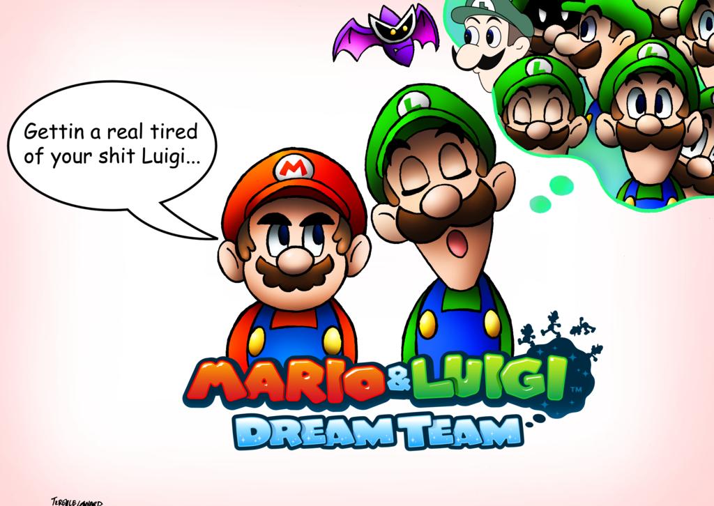 Mario And Luigi Dream Team By Sonicknight007 Deviantart Com