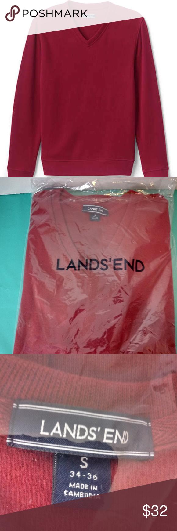 Lands End Men S Bedford Rib V Neck Sweater Nwt Vneck Sweater Sweaters Men S V Neck Sweaters [ 1740 x 580 Pixel ]