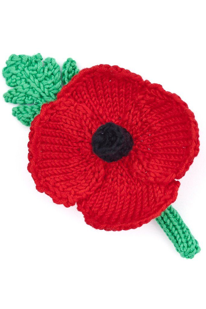 Remembrance Day Poppy Knitting And Crochet Patterns