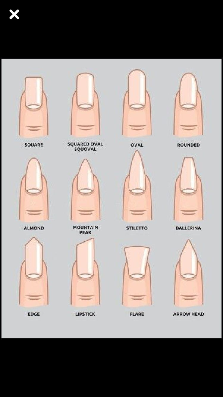 7 Different Nail Shapes How To Shape Your Nails Perfectly Different Nail Shapes Perfect Nails Types Of Nails Shapes